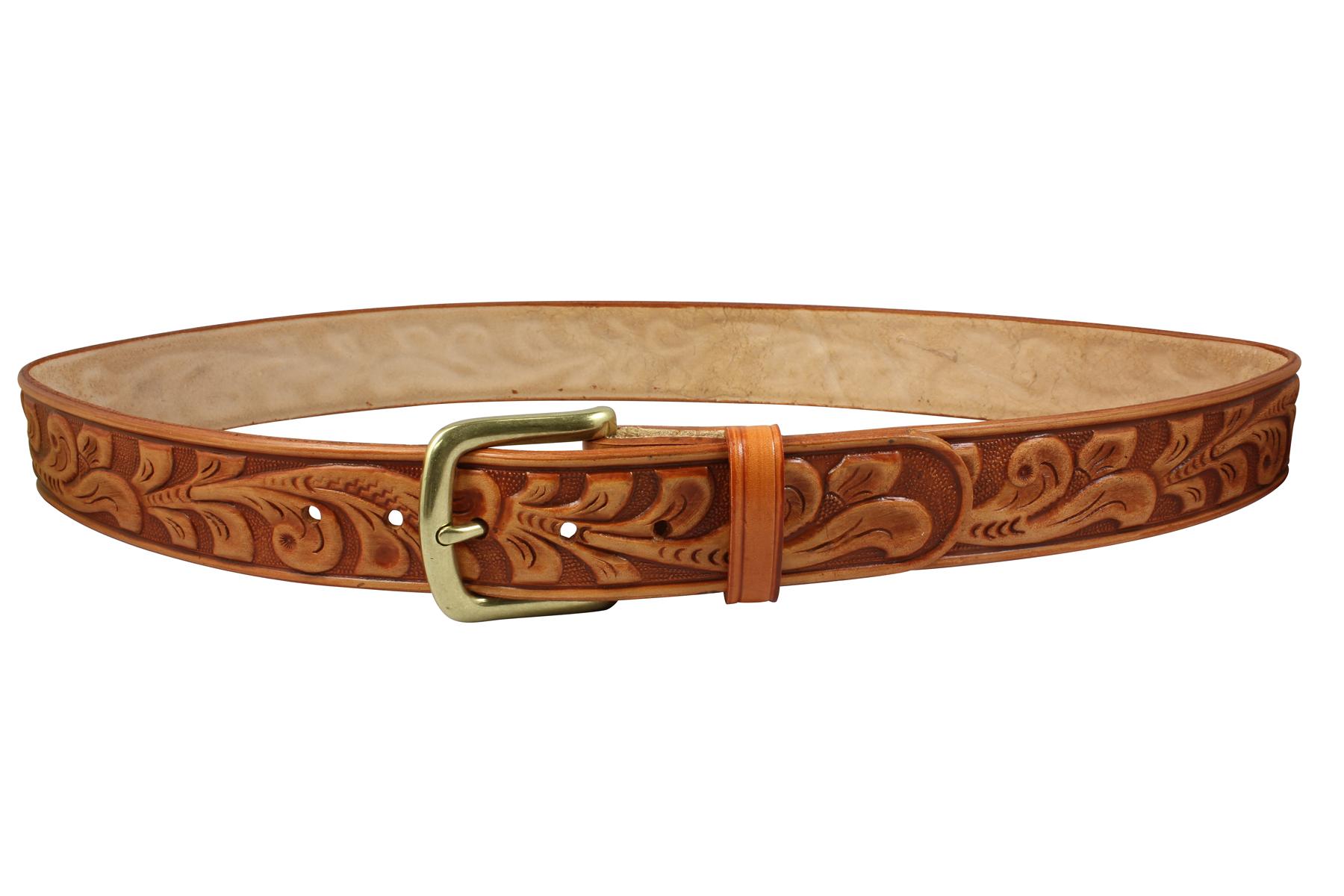 embossed leather oakleaf pattern bison designs