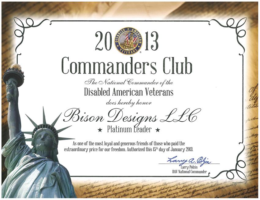 Disabled Veterans Certificate